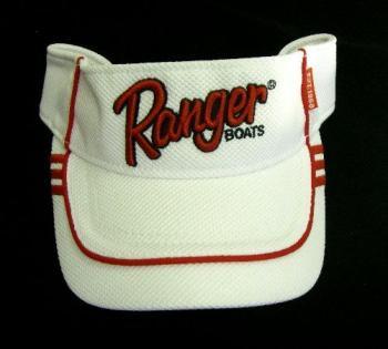 Ranger boats レンジャーボート スポーツサンバイザー White/Red