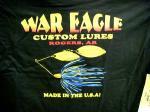 WAR EAGLE CUSTOM LURES/ウォーイーグル Tシャツ 半袖 ブラック