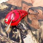 PH Custom Lures Huntin P Squarebill Crankbait # Copper Red