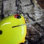 PH Custom Lures Huntin P Squarebill Crankbait # Chart/Black
