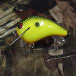 PH Custom Lures Little Huter Squarebill Crankbait # Chart/Black