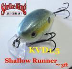 ストライクキング スクエアビル クランクベイト KVD1.5 Shallow Runner