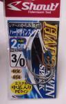 シャウトアシスト&フック  ハードツインスパーク 3/0 PE長さ2cm