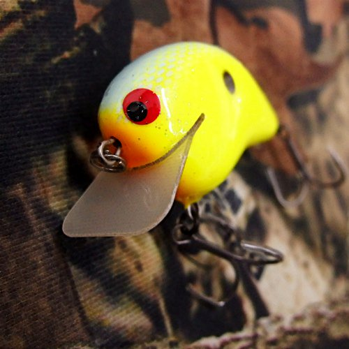 PH Custom Lures Huntin P Squarebill Crankbait # Chart/Blue