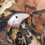 PH Custom Lures Huntin P Squarebill Crankbait # Foil/Black