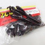 ZBC ズームワーム ベビーブラッシュホッグ #042-001 BLACK RED GLITTER