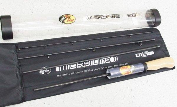 バスプロショップス マイクロライト 4ピースベイトロッド MIL60MC-4
