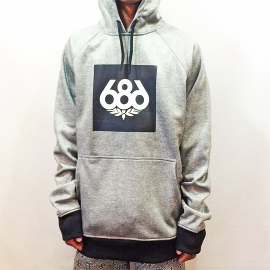 【686】 16-17 KNOCKOUT BONDED FLEECE PULLOVER HOODY c:: H.Grey [送料無料】【即納】