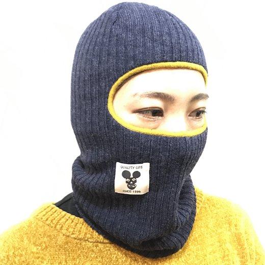 【SPINY★】KNIT CLAVA COAL ニット バラクラバ c: ネイビー