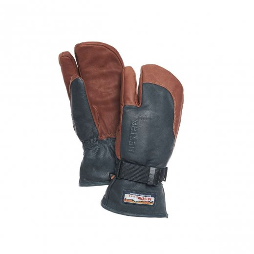 【HESTRA】 ヘストラ 3-FINGER GTX FULL LEATHER  c: Grey Brown  [送料無料]