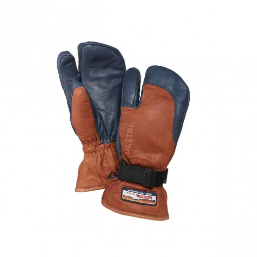 【HESTRA】 ヘストラ 3-FINGER GTX FULL LEATHER  c:Brown/Navy  [送料無料]