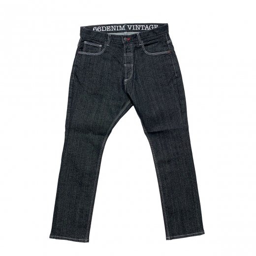 <img class='new_mark_img1' src='https://img.shop-pro.jp/img/new/icons8.gif' style='border:none;display:inline;margin:0px;padding:0px;width:auto;' />【66 DENIM VINTAGE】ロクロク 66 SARROUEL STRETCH DENIM  c: Indigo Black[送料無料]