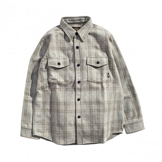 20%OFF【GREEN CLOTHING】グリーン FLANNEL SHIRTS  c:Beige