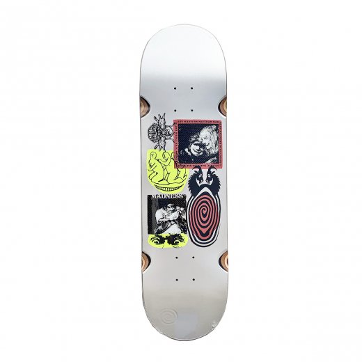 【MADNESS SKATEBOARDS】マッドネス SCHIZO PEARL WHITE 8.5