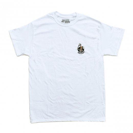 【BEER SLAVE】ビアスレイブ SMALL OG SKULL TEE  c: White