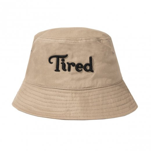 <img class='new_mark_img1' src='https://img.shop-pro.jp/img/new/icons8.gif' style='border:none;display:inline;margin:0px;padding:0px;width:auto;' />【TIRED】タイレッド TIRED LOGO BUCKET HAT  c: Khaki