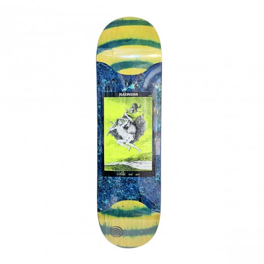 <img class='new_mark_img1' src='https://img.shop-pro.jp/img/new/icons8.gif' style='border:none;display:inline;margin:0px;padding:0px;width:auto;' />【MADNESS SKATEBOARDS】マッドネス ALLA POPSICLE RIP SLICK /GREEN SWIRL 8.625