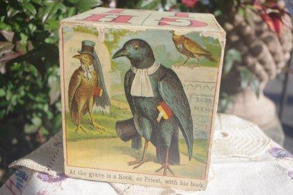 1930〜アメリカ製 GHIJブロック (ABCブロック)飛ぶ鳥