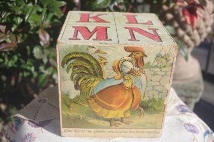 1930〜アメリカ製 KLMNブロック (ABCブロック)歩く鳥