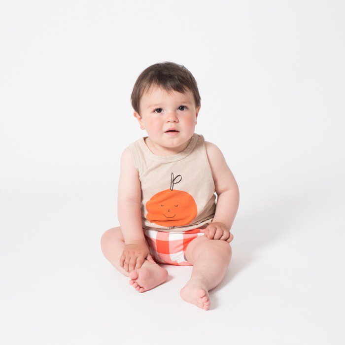 <5SBC07>Tangerine Dress Linen Baby Tank Top  (りんごタンク)   [5S=BC-119159-ST-BA]