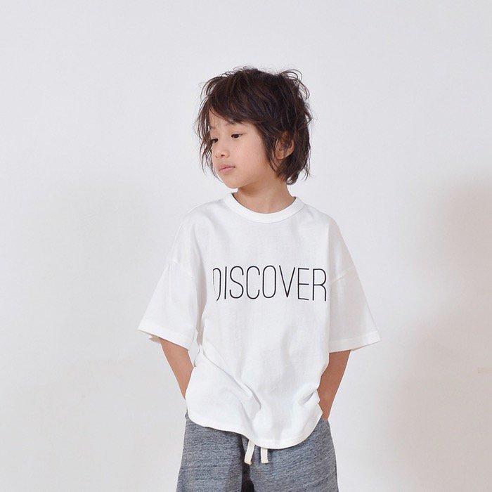 <5SGE09>DISCOVER ビッグプリントTシャツ 90-160cm[5S=GE-909407-ST-KD]