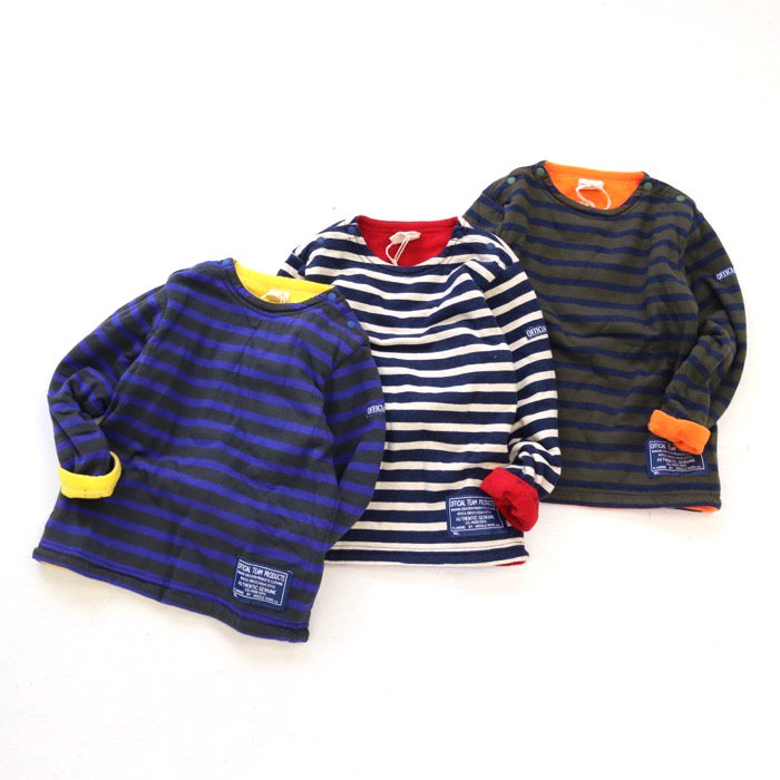 BORDER FLEECE BACK プルオーバー 80-140cm [A6=ot-129381-LT-KD]<A6ot08A>