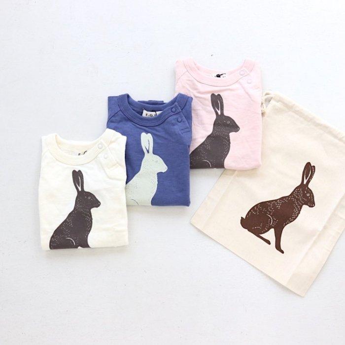 .【会員ログインで ★40%off★】ウサギ半袖Tシャツ 80-160cm [S7=fu-I207010-ST-KD]《オンライン限定》