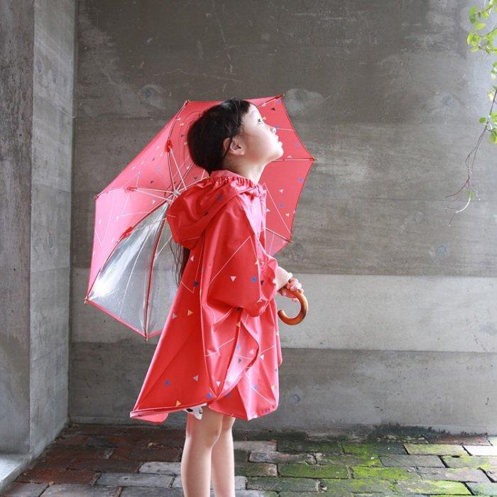 【定番】【大型梱包対象品】sankaku キッズロングアンブレラ [X7=mc-MK33003/33007-RG-KD]《店頭取扱品》