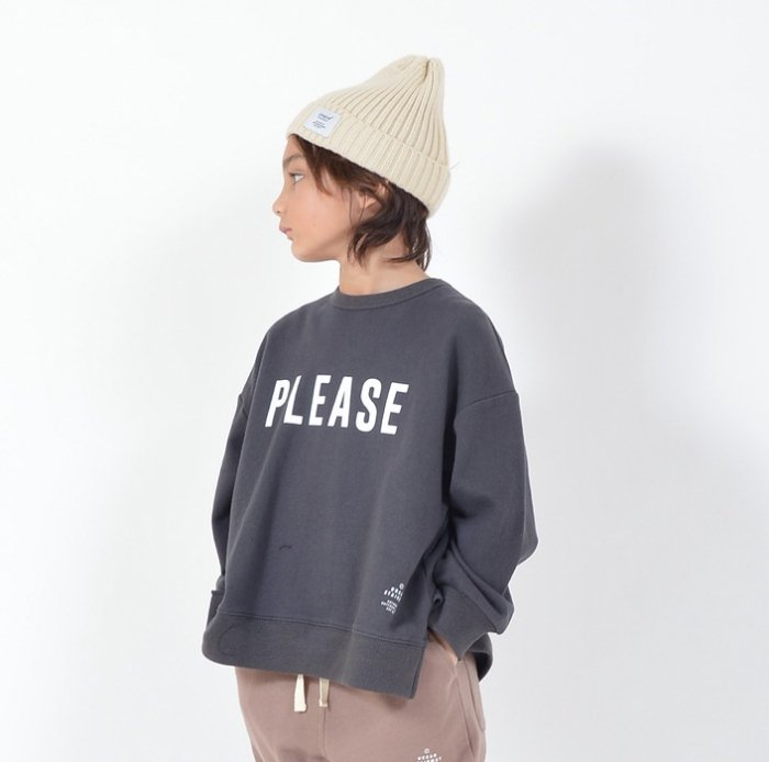 <img class='new_mark_img1' src='https://img.shop-pro.jp/img/new/icons16.gif' style='border:none;display:inline;margin:0px;padding:0px;width:auto;' />【会員ログインで ★30%off★】PLEASE スウェット・90-160cm [A7=ge-910703-LT-KD]S《オンライン限定》