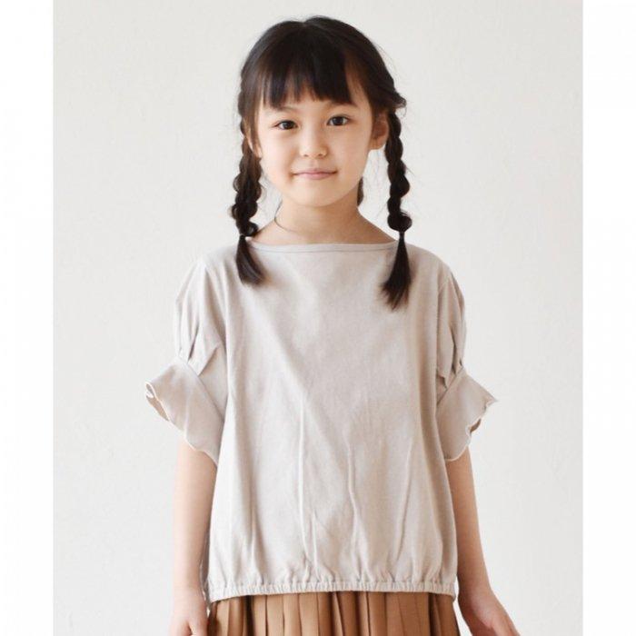 【春夏新作】キャンディ袖ゆるTシャツ ・90-140cm [S8=nh-210113-ST-KD]S《店頭取扱品》