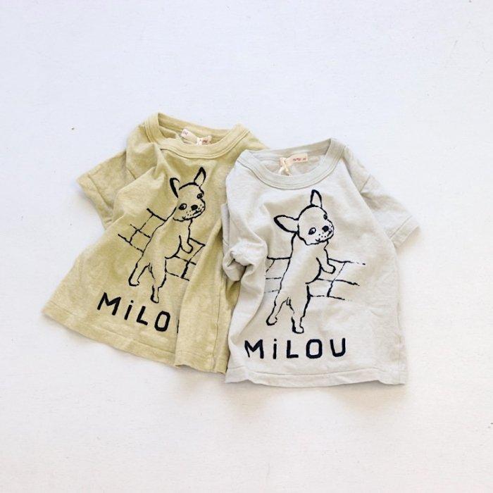 【春夏新作】フレンチブルドッグTシャツ・80-135cm [S8=ni-211-1508-ST-BA-KD]《店頭取扱品》