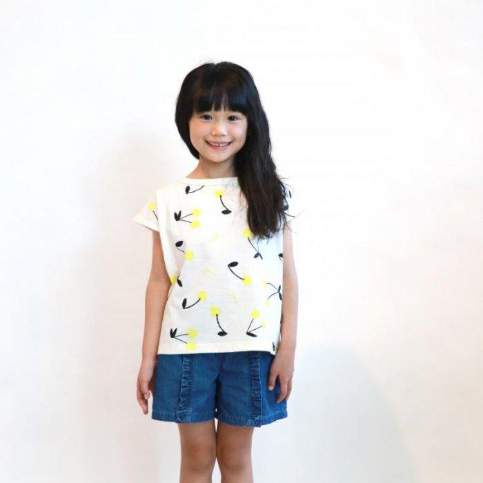 【春夏新作】天竺チェリープリントTシャツ・80-140cm [S8=mr-115-0202012-ST-KD]《店頭取扱品》