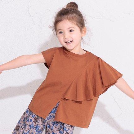【春夏新作】アシンメトリーフレアTシャツ・80-140cm [S8=og-1116111-ST-KD]《店頭取扱品》