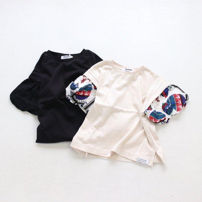 【春夏新作】袖ボリュームTシャツ・90-140cm [S8=on-E207101-ST-KD-LD]《店頭取扱品》