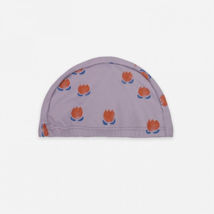 【春夏新作】Chocolate Flowers All Over Swim Beanie・KIDS FREE[S8=bc-121AI073-HT-SW-KD]《店頭取扱品》