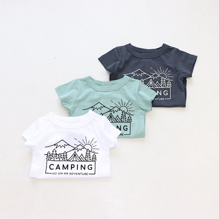 <img class='new_mark_img1' src='https://img.shop-pro.jp/img/new/icons55.gif' style='border:none;display:inline;margin:0px;padding:0px;width:auto;' />【春夏新作】CAMPING Tシャツ・ 90-140cm [S8=ot-1121230-ST-KD]S《店頭取扱品》