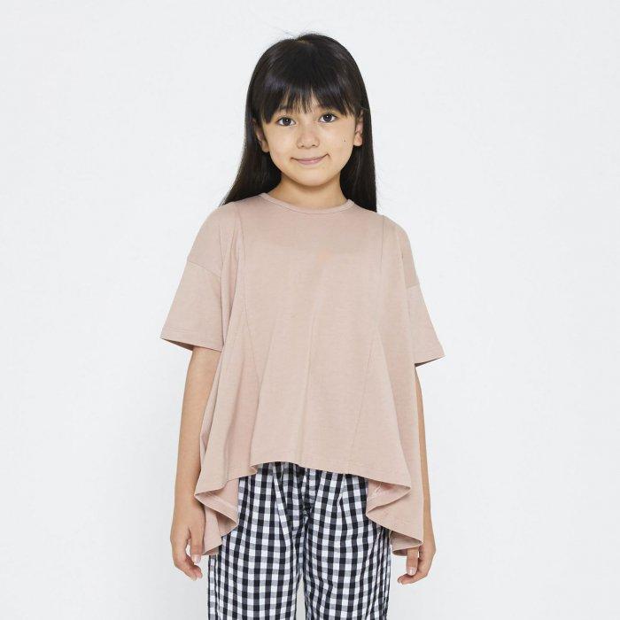 【春夏新作】フレアーゆるTシャツ・90-140cm[S8=nh-510131-ST-KD-LD]《店頭取扱品》