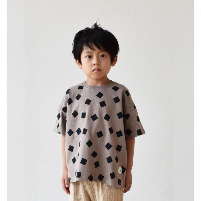 【春夏新作】nico しかくTシャツ・90-140cm[S8=nh-210147-ST-KD]S《店頭取扱品》