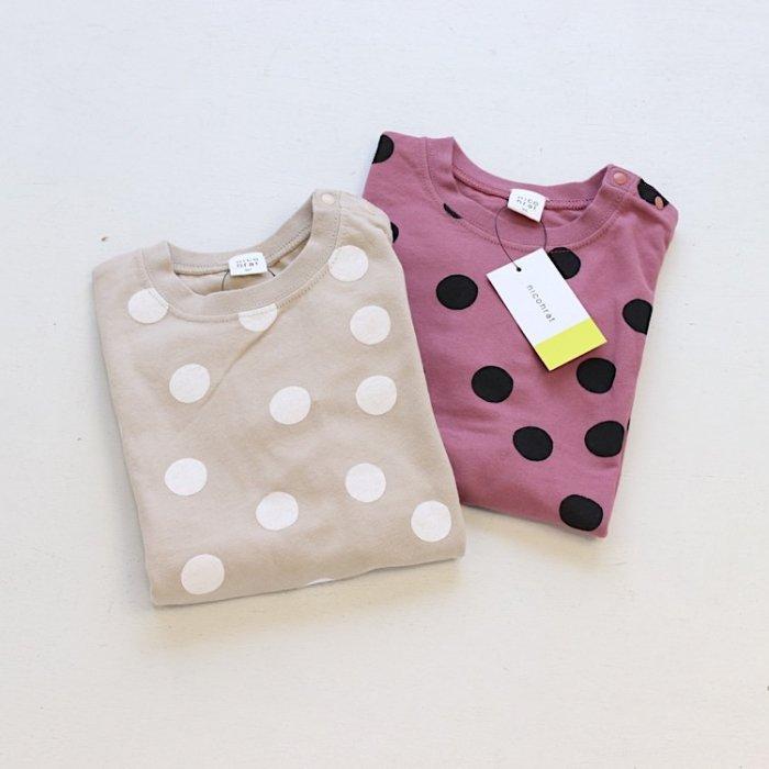 【春夏新作】nico まるTシャツ・90-140cm[S8=nh-210145-ST-KD]S《店頭取扱品》