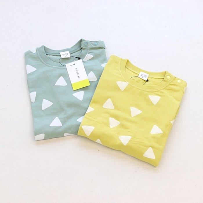 【春夏新作】nico さんかくTシャツ・90-140cm[S8=nh-210146-ST-KD]S《店頭取扱品》