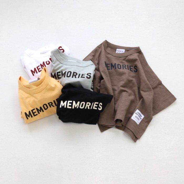【春夏新作】MEMORIES ビッグドロップTシャツ・ 90-140cm [S8=ot-1121294-ST-KD]S《店頭取扱品》