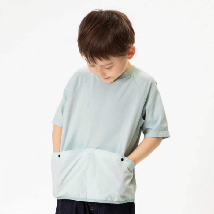 【春夏新作】異素材製品染めTシャツ・100-160cm [S8=fu-I207061-ST-KD]《店頭取扱品》