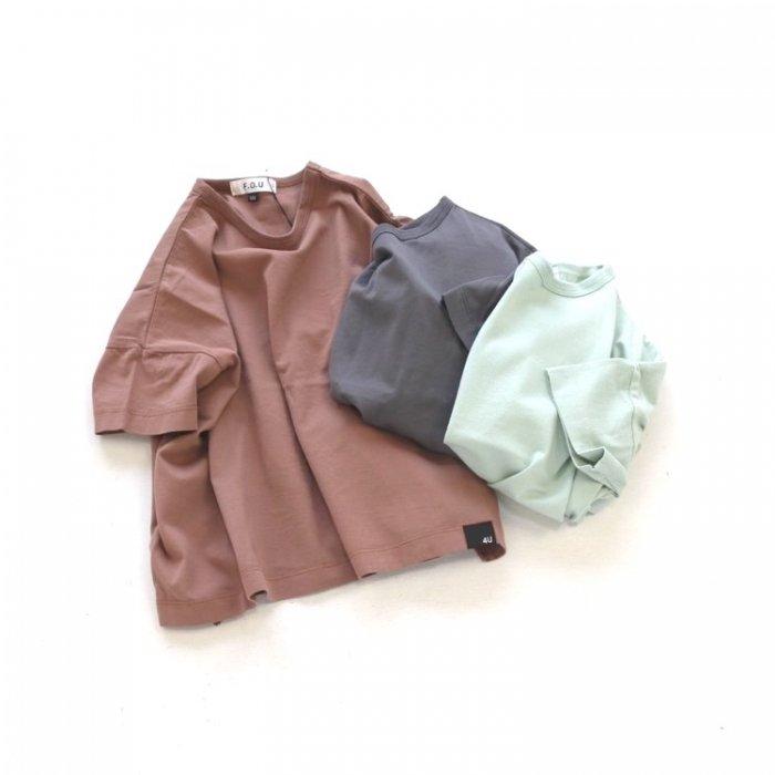 【春夏新作】スリットTシャツ・100-160cm [S8=fu-I207051-ST-KD]《店頭取扱品》
