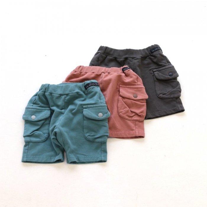 【春夏新作】サイドポケットマチ付きパンツ・ 80-140cm [S8=fo-R222031-PT-KD]《店頭取扱品》