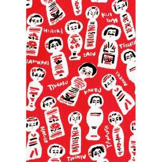 『よしだみさこ』こけしポストカード(赤)