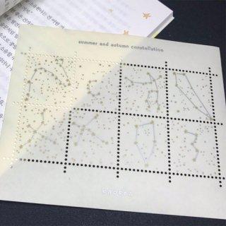 <img class='new_mark_img1' src='https://img.shop-pro.jp/img/new/icons59.gif' style='border:none;display:inline;margin:0px;padding:0px;width:auto;' />四季の星座切手風シール(knoten)