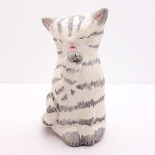 『高辻あい』 猫の置物(小)5