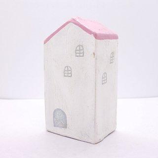 『ツメサキの世界』 白い漆喰の壁の家(大)C