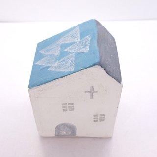 『ツメサキの世界』 白い漆喰の壁の家(大)H