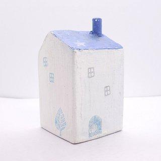 『ツメサキの世界』 白い漆喰の壁の家(大)I